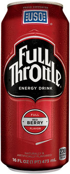 Full Throttle Red Berry Energy Drink 16 oz Can