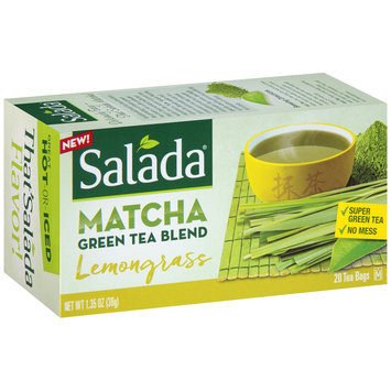 Salada® Lemongrass Matcha Green Tea Blend Tea Bags 1.35 oz. Box