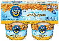 Kraft Macaroni & Cheese Dinner Whole Grain Original Flavor 4-2.0 oz. Microcups