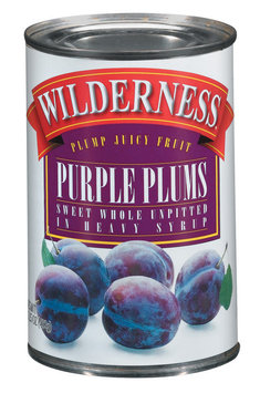 Wilderness Sweet Whole Unpitted In Heavy Syrup Purple Plums 15.25 Oz Can