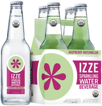 Izze® Raspberry Watermelon Sparkling Water Beverage 4-12 fl. oz. Bottles