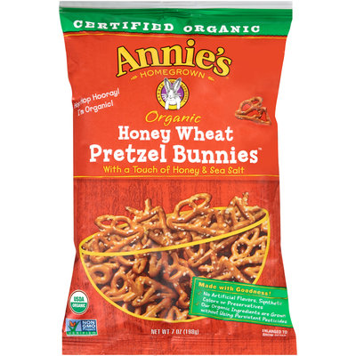 Annie's® Homegrown Organic Honey Wheat Pretzel Bunnies