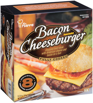 Pierre™ Flame Broiled Bacon Cheeseburger 8-6.4 oz. Box