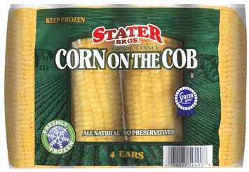 Stater Bros.  Corn On The Cob 4 Ct Bag