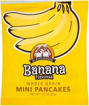 De Wafelbakkers® Banana Whole Grain Mini Pancakes 3.0 oz. Bag
