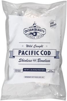 Ocean Beauty Wild Caught Skinless and Boneless Pacific Cod 1 lb. Pack