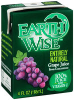 Earth Wise Aseptic Grape 100% Juice 16 fl. oz. Pack