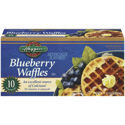 Haggen Blueberry 10 Ct Waffles 12.3 Oz Box