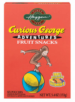 Haggen Curious George Adventures Assorted 6 Ct Fruit Snacks 5.4 Oz Box