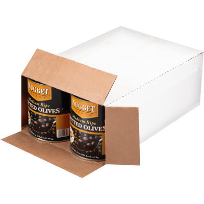 Nugget® Medium Ripe Pitted Olives 6-51 oz. Cans