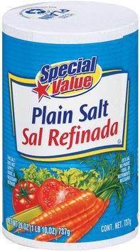 Special Value Plain Salt 26 Oz Canister