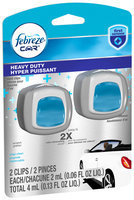 Febreze® Heavy Duty Crisp Clean Car Vent Clip Air Freshener 2-2 mL Carded Pack