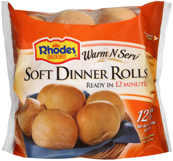 Rhodes® Warm-N-Serv™ Soft Dinner Rolls White 12 ct Bag