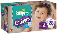 Pampers Cruisers Economy Pack Size 4 Diapers 128 ct Box