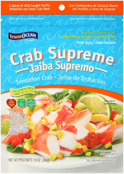 TransOcean® Products Crab Supreme Flake Style Imitation Crab 10 oz. Bag