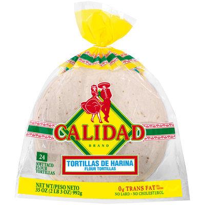 Calidad® Soft Taco Flour Tortillas 24 ct. Bag