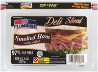 PLUMROSE Water Added 97% Fat Free Smoked Ham 8 OZ ZIP PAK