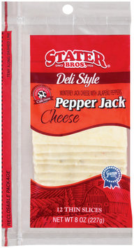 Stater Bros. Pepper Jack Cheese 8 Oz Peg