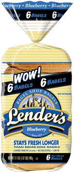 Lender's Refrigerated Blueberry Bagels 17.1 Oz Bag