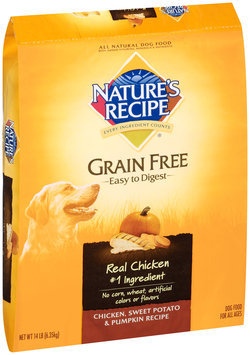 Nature's Recipe® Grain Free Easy to Digest Chicken, Sweet Potato & Pumpkin Recipe Dog Food 14 lb. Bag