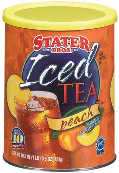 Stater Bros. Peach Iced Tea 26.5 Oz Canister