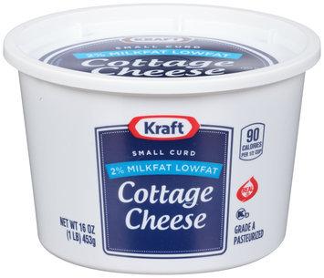 Kraft Small Curd 2% Milkfat Lowfat Cottage Cheese 16 oz. Tub