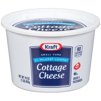 Kraft Small Curd 2% Milkfat Lowfat Cottage Cheese 16 oz. Tub