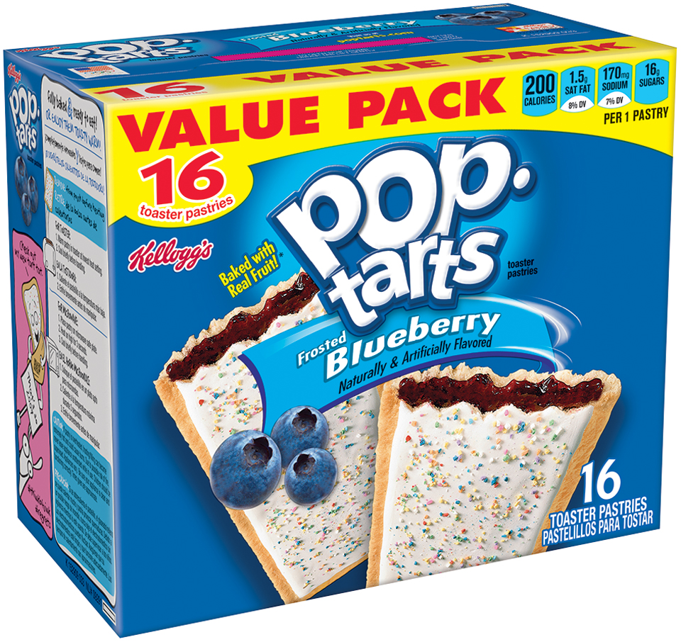 Kellogg's® Pop-Tarts® Frosted Blueberry Toaster Pastries 16 ct Box