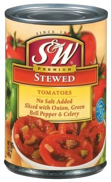 S&W® Stewed Sliced Tomatoes No Salt Added 14.5 oz. Can