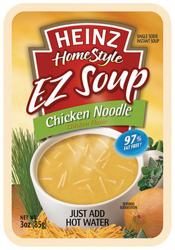Heinz Homestyle Chicken Noodle EZ Soup 3 Oz Pouch