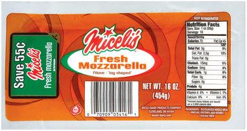 Miceli's® Filone Fresh Mozzarella Cheese 16 oz. Pack