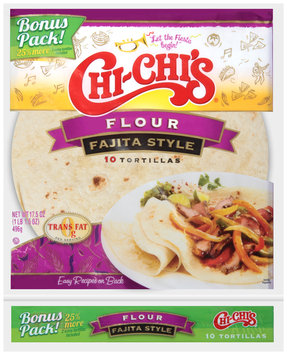 Chi Chi's® Flour Fajita Style Tortillas 10 ct Bag