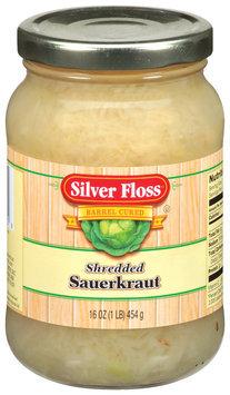 Silver Floss Shredded Sauerkraut 16 Oz Jar