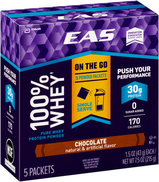 EAS® 100% Whey Chocolate Protein Powder 5-1.5 oz. Packets