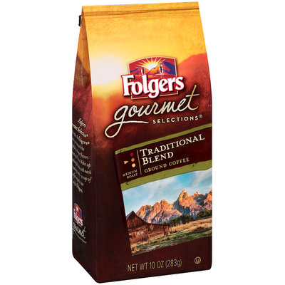 Folgers Gourmet Selections® Traditional Blend Ground Coffee 10 oz. Stand Up Bag