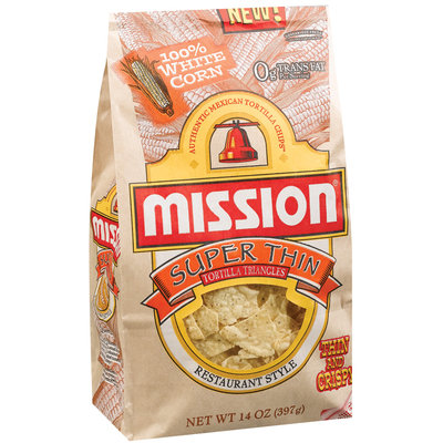 Mission Restaurant Style Super Thin Tortilla Triangles 14 Oz Bag