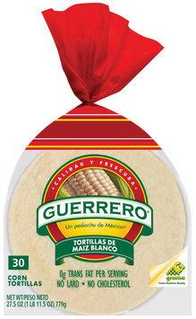 Guerrero Corn De Maiz Blanco 30 Ct Tortillas 27.5 Oz Bag