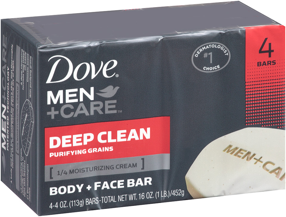 Dove® Men + Care Deep Clean 4 oz. Bar Soap 4 ct Bars