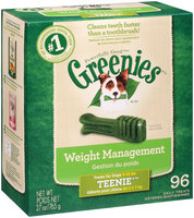 Greenies® Weight Management Teenie® Dog Treats 27 oz. Box
