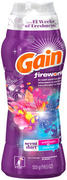 Fireworks Gain Fireworks Scent Duets Laundry Scent Booster Beads, Wildflower and Waterfall, 19.5 Oz