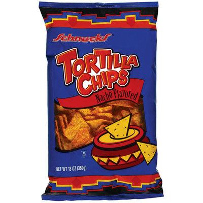 Schnucks Nacho Flavored Tortilla Chips 13 Oz Bag