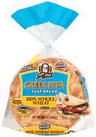 Papa Pita® 100% Whole Wheat Greek Pita Flat Bread 16.8 oz. Bag