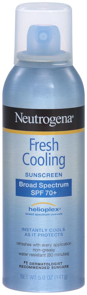 Neutrogena® Fresh Cooling Sunscreen Broad Spectrum SPF 70+ 5.0 oz. Aerosol Can