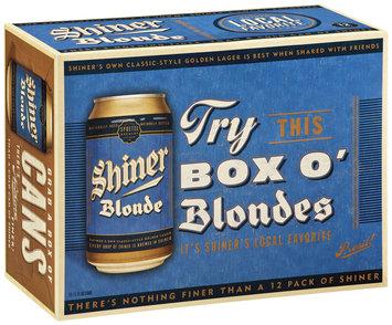 Shiner Blonde Box O' Blondes Beer 12 Pk Cans