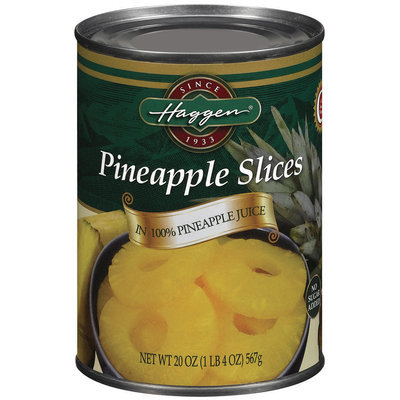 Haggen Slices In 100% Pineapple Juice No Sugar Added Pineapple 20 Oz Can