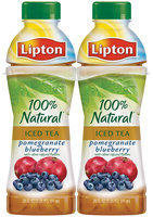 Lipton® 100% Natural Iced Tea with Pomegranate Blueberry 4 Pack 20 fl. oz. Plastic Bottles