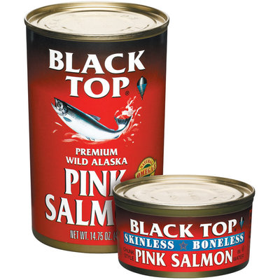 Black Top Premium Wild Alaska Pink Salmon 14.75 Oz Can