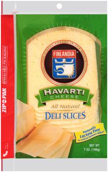 Finlandia® Natural Deli Slices Havarti Cheese Deli Slices 7 oz. Pack
