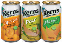 Kern's Apricot/Pear/Mango  Group Shot 11.5 Fl Oz Cans