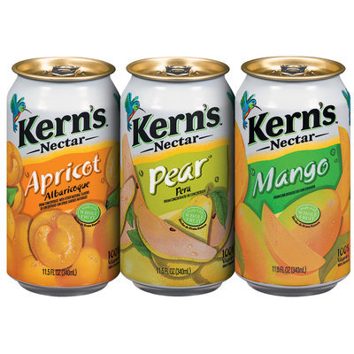 Kern's Apricot/Pear/Mango  Group Shot 11.5 Fl Oz Cans